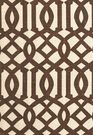SCHUMACHER IMPERIAL TRELLIS II LINEN FABRIC JAVA/CREAM