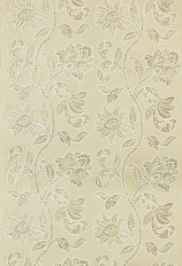 SCHUMACHER INDORA VELVET APPLIQUE FABRIC CHANTERELLE