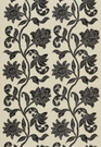 SCHUMACHER INDORA VELVET APPLIQUE FABRIC NOIR
