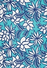 SCHUMACHER KALAHEO PRINT INDOOR / OUTDOOR  FABRIC AQUA