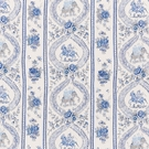 SCHUMACHER KANDULA LINEN FABRIC BLUES