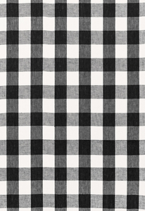 SCHUMACHER KEY WEST LINEN CHECK FABRIC JET