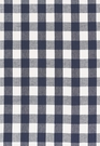 SCHUMACHER KEY WEST LINEN CHECK FABRIC NAVY