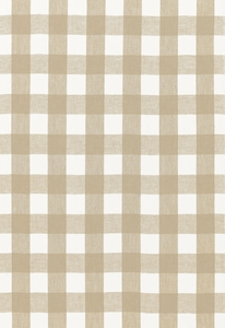 SCHUMACHER KEY WEST LINEN CHECK FABRIC SAHARA