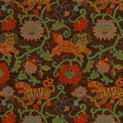 SCHUMACHER KHOTAN WEAVE FLORAL FABRIC SABLE