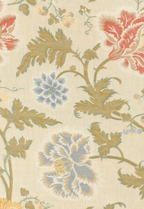 SCHUMACHER LAMPASSO FLORI FABRIC BERRY