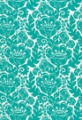 SCHUMACHER LOUISE NUI PRINT INDOOR / OUTDOOR  FABRIC LAGUNA