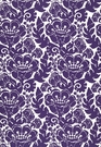 SCHUMACHER LOUISE NUI PRINT  INDOOR / OUTDOOR FABRIC VIOLET
