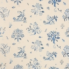 SCHUMACHER MAGICAL MENAGERIE LINEN FABRIC BLUES