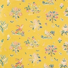 SCHUMACHER MAGICAL MENAGERIE LINEN FABRIC YELLOW