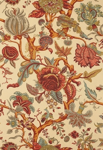 SCHUMACHER MANDALAY TREE LINEN FABRIC DOCUMENT