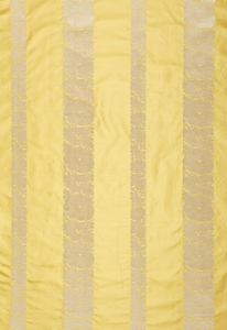 SCHUMACHER MANDARIN SILK STRIPE FABRIC SUNLIGHT