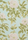 SCHUMACHER MANOR ROSE SHABBY FLORAL FABRIC BREEZE