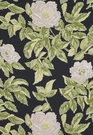 SCHUMACHER MANOR ROSE SHABBY FLORAL FABRIC NIGHTFALL