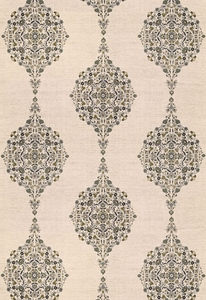 SCHUMACHER MEHNDI LINEN PRINT FABRIC  SMOKE MULTI