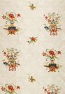 SCHUMACHER CHINOISERIE MING EMBROIDERED SILK FABRIC MULTI COLOR