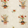 SCHUMACHER MING EMBROIDERY FLORAL SILK FABRIC MULTI