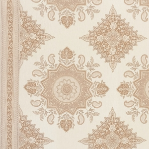 SCHUMACHER MONTECITO MEDALLION LINEN FABRIC NEUTRAL