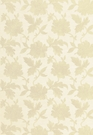 SCHUMACHER MOON GARDEN FLORAL EMBROIDERED SILK FABRIC CHAMPAGNE