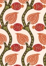 SCHUMACHER NURATA EMBROIDERY FABRIC CORAL