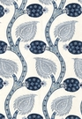 SCHUMACHER NURATA EMBROIDERY FABRIC LAPIS