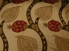SCHUMACHER NURATA EMBROIDERY FABRIC STONE