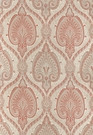 SCHUMACHER ODALISQUE PAISLEY MEDALLION WOVEN FABRIC CINNABAR