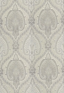SCHUMACHER ODALISQUE PAISLEY MEDALLION WOVEN FABRIC GRISAILLE