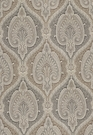 SCHUMACHER ODALISQUE PAISLEY MEDALLION WOVEN FABRIC TABAC