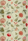 SCHUMACHER PALAMPORE EMBROIDERY FABRIC CELADON