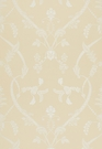 SCHUMACHER PARC MONCEAU SILK COTTON FABRIC CHAMPAGNE
