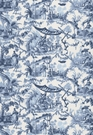SCHUMACHER PAVILLION CHINOISERIE FABRIC LAPIZ
