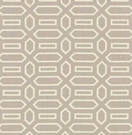 SCHUMACHER PAVILLION FRETWORKS LINEN FABRIC LILAC