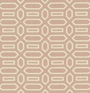 SCHUMACHER PAVILLION FRETWORKS LINEN FABRIC TEMPLE PINK