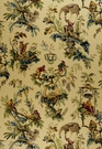 SCHUMACHER CHINOISERIE PLAISIRIS DE LA CHINE LINEN PRINT FABRIC DOCUMENT