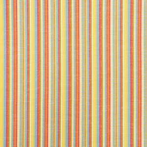 SCHUMACHER PRIMAVERA STRIPE INDOOR/OUTDOOR FABRIC MARIGOLD