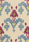 SCHUMACHER RAJA EMBROIDERY FABRIC JEWEL