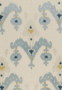 SCHUMACHER RAJA EMBROIDERY FABRIC STONE