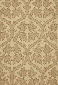 SCHUMACHER RAVENNA EMBROIDEREY SILK FABRIC CAMEL