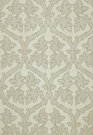 SCHUMACHER RAVENNA EMBROIDEREY SILK FABRIC SILVER