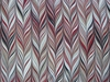 SCHUMACHER RETRO MARBELIZED STRIPES LINEN FABRIC RUBY