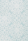SCHUMACHER ROSEGATE EMBROIDERED PRINT FABRIC AQUAMARINE
