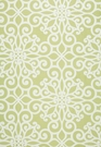 SCHUMACHER ROSEGATE EMBROIDERED PRINT FABRIC CHARTREUSE