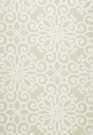 SCHUMACHER ROSEGATE EMBROIDERED PRINT FABRIC FLAX
