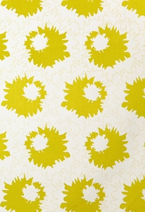 SCHUMACHER SALLY COTTON FLORAL FABRIC LIME