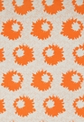SCHUMACHER SALLY COTTON FLORAL FABRIC PUMPKIN