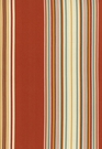SCHUMACHER SAMOA STRIPE INDOOR/OUTDOOR FABRIC CORAL
