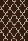 SCHUMACHER SCALLOP EMBROIDEREY FABRIC ESPRESSO
