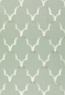 SCHUMACHER SCALLOP EMBROIDEREY FABRIC MINERAL
