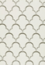 SCHUMACHER SCALLOP EMBROIDEREY FABRIC PLATINUM